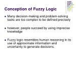 conception of fuzzy logic