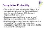 fuzzy is not probability1