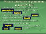 what is alternation of generations in plants 235