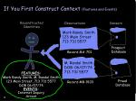 if you first construct context features and events