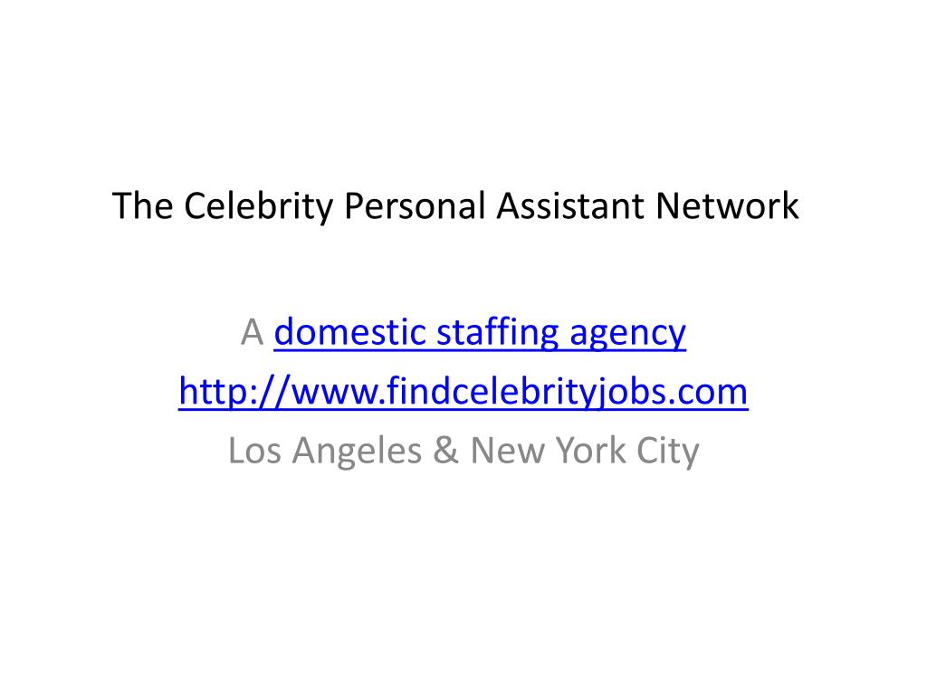 the celebrity personal assistant network l.