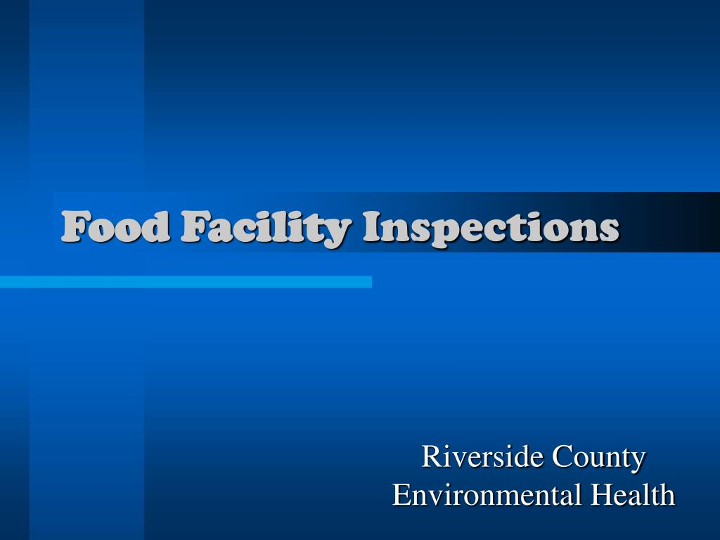food facility inspections l.