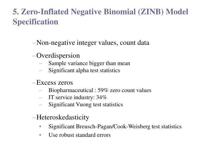 5. Zero-Inflated Negative Binomial (ZINB) Model Specification