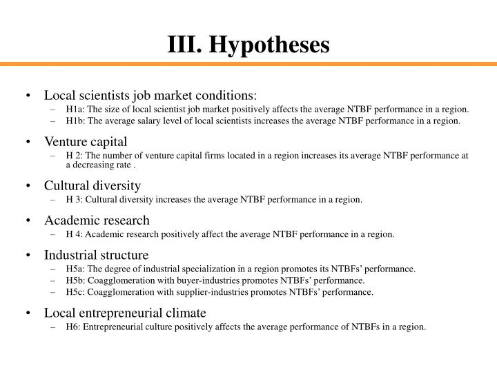 Local scientists job market conditions: