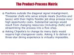 the product process matrix