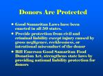 donors are protected