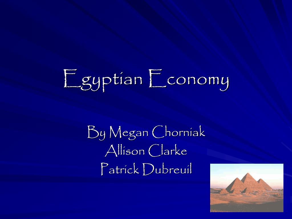 egyptian economy l.