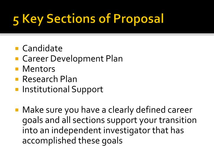 5 Key Sections of Proposal