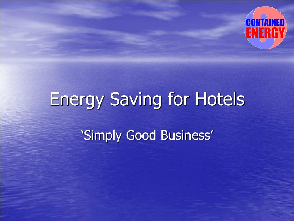 energy saving for hotels l.