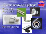 saving energy on lighting