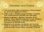 gamelan and drama