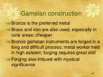 gamelan construction