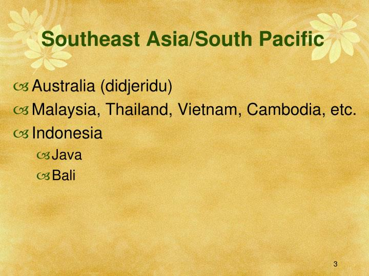 Southeast asia south pacific