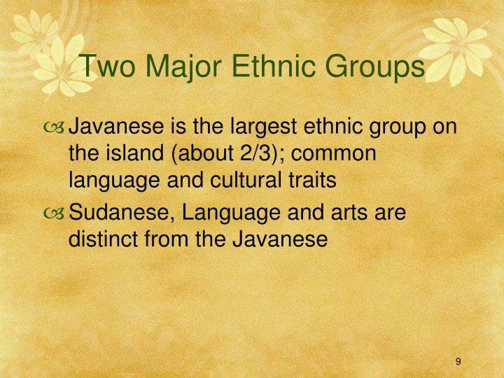 Two Major Ethnic Groups
