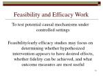 feasibility and efficacy work