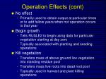 operation effects cont