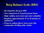 berg balance scale bbs