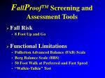 f all p roof tm screening and assessment tools