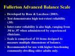 fullerton advanced balance scale