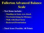 fullerton advanced balance scale8