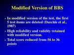 modified version of bbs