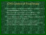 cns control of food intake