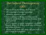diet induced thermogenesis dit