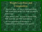 weight loss rate and composition