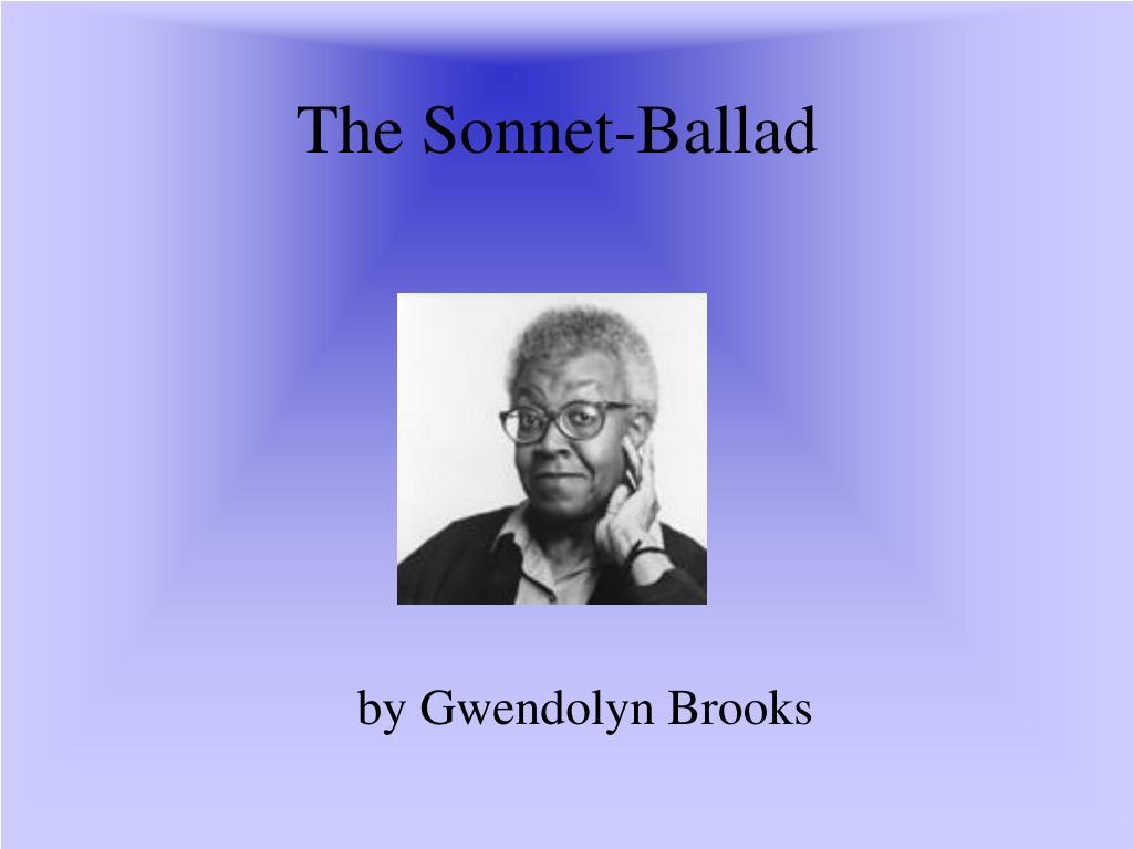 the sonnet ballad l.