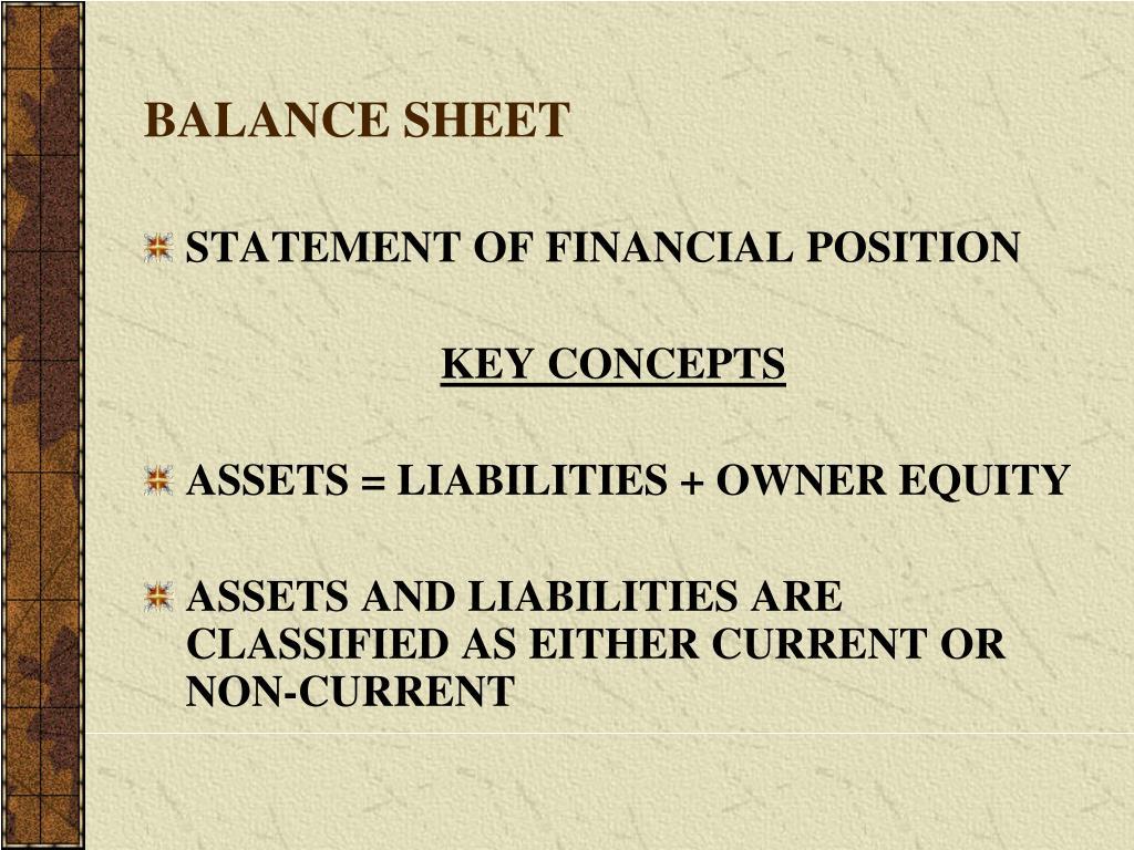 balance sheet l.