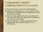 commodity credit corporation ccc loans
