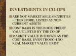 investments in co ops