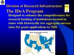 division of research infrastructure the idea program