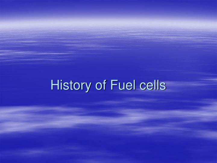 History of fuel cells
