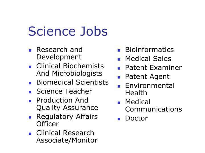 Science jobs