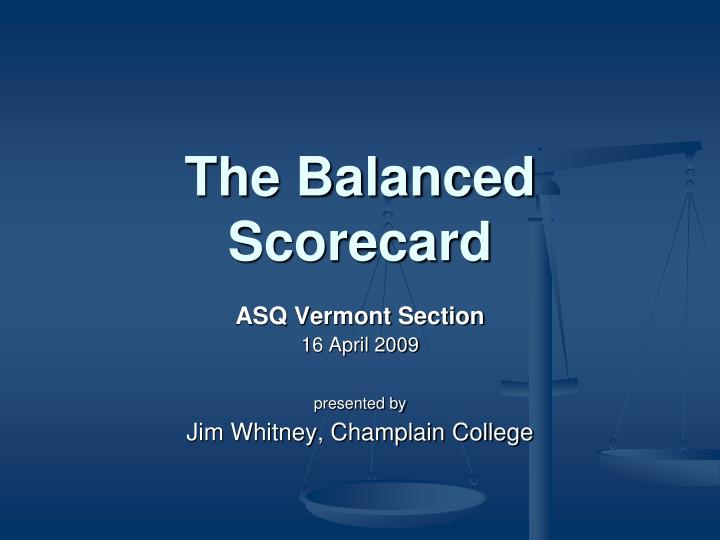 the balanced scorecard n.