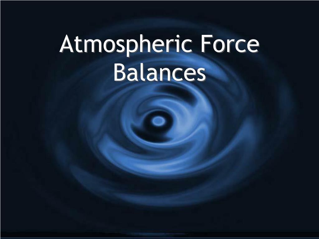 atmospheric force balances l.