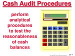cash audit procedures