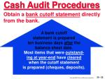 cash audit procedures25