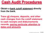 cash audit procedures26