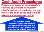 cash audit procedures28