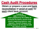 cash audit procedures31