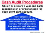 cash audit procedures32