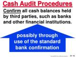 cash audit procedures43