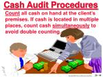 cash audit procedures44