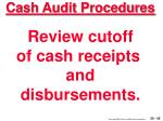 cash audit procedures45