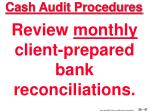 cash audit procedures47