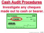 cash audit procedures48