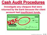 cash audit procedures49