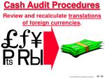 cash audit procedures50